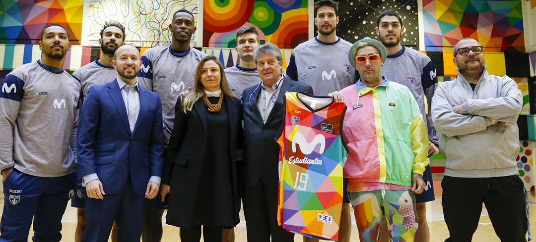 El Movistar Estudiantes lucirá una camiseta multicolor en el derbi