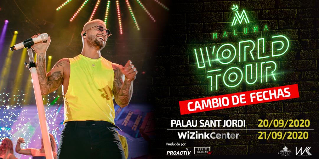 Maluma celebrará su concierto el 21 de septiembre