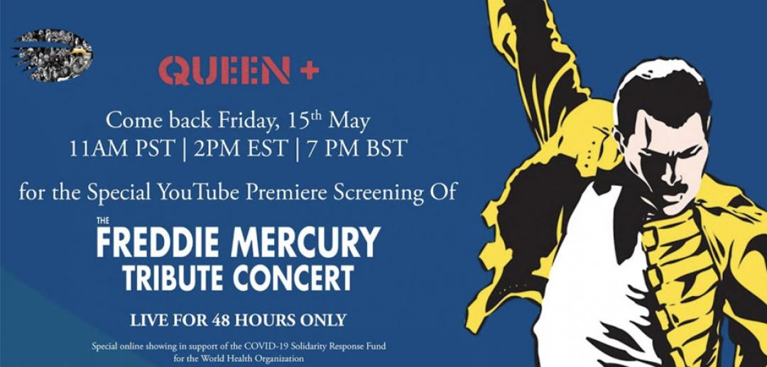 Queen comparte en YouTube el concierto tributo a Freddie Mercury