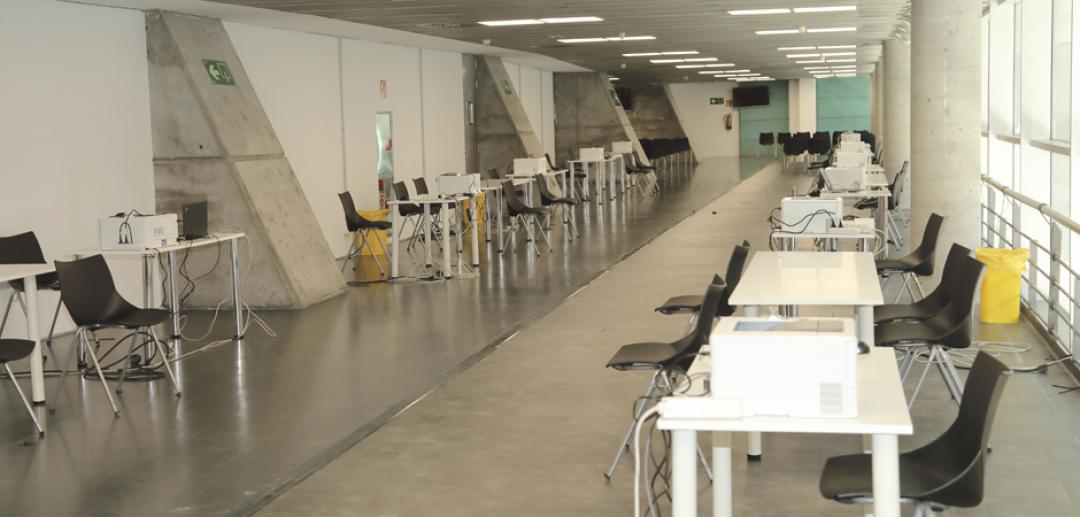 Comienza la vacunación en el WiZink Center de Madrid